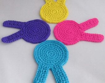 Easter Bunny Handmade Crocheted Coasters/ Easter Decor/Housewares/Kitchen Decor/ Easter Gift/ Housewarming Gift/Handmade Coaster Set
