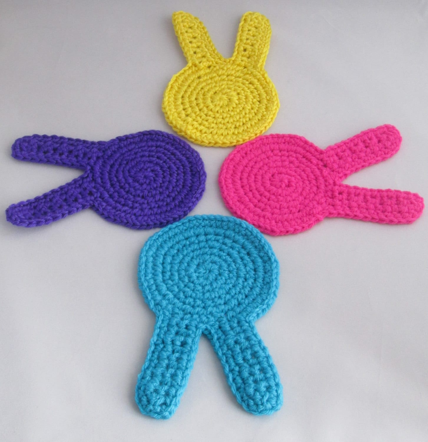Easter Bunny Handmade Crocheted Coasters/ Easter Decor/Housewares ...