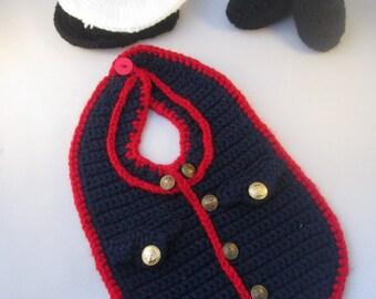Marine Baby Handmade Crocheted 3 Piece Set/Baby Halloween Set/ Newborn Photography Prop/Baby Shower Gift/ Christmas Gift Marine Corps Baby