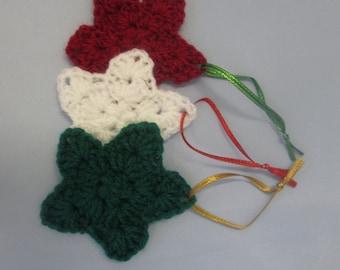 Christmas Star Handmade Crocheted Ornaments/ Christmas Decorations