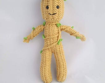 Guardian Root Baby Of The Galaxy Handmade Crocheted Amigurumi Doll/ Plant Baby Doll/ Crocheted Soft Plushy Plant Baby/ Crocheted Doll