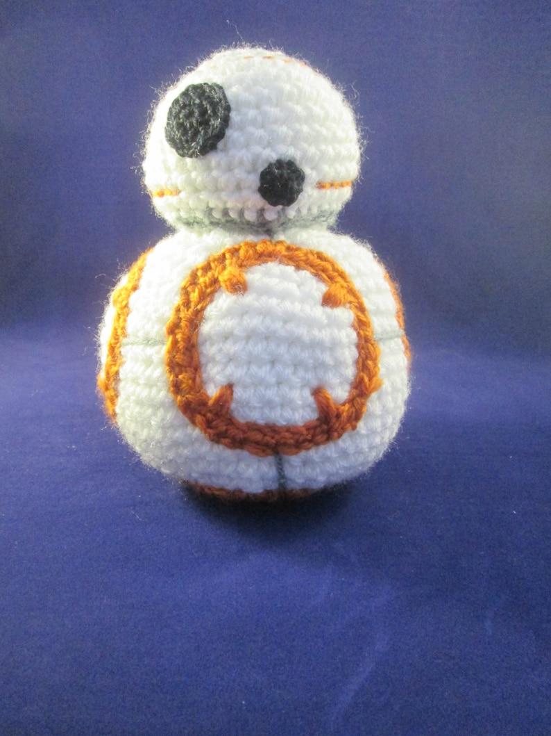 Round Robot Handmade Crocheted Amigurumi Doll/Robot Plush image 0