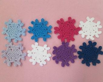 Handmade Crocheted Snowflake Coaster Sets/Christmas Gift/Hostess Gift/Housewarming Gift/Crocheted Coaster Sets/ Reusable Coasters