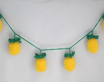 Pretty Pineapple Handmade Crocheted Party Bunting/ Room Decoration/Party Decor