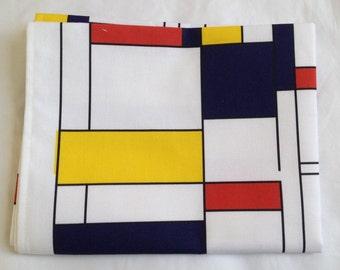 Mondrian tea towel - mondrian kitchen towel - mondrian style tea towel - in 100% cotton