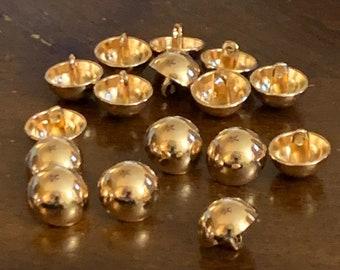 8 Vintage Brass 8mm  Half Dome Brass Metal Spiral Cabochon