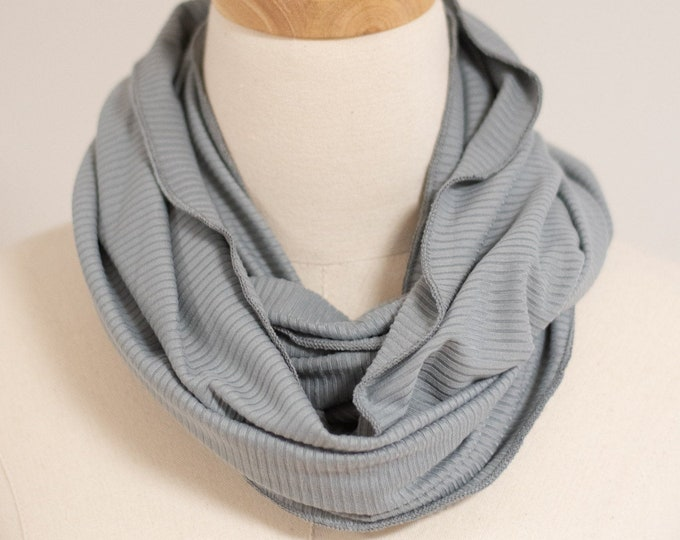 Infinity Scarf, Ribbed Knit Circular Scarf, Soft Knit Fabric Scarf, Scarf for Women, Women's Accessories