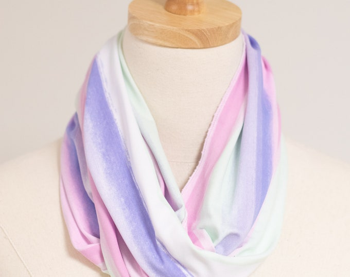 Infinity Scarf, Circular Scarf, Soft Knit Fabric Scarf, Scarf for Women, Women's Accessories