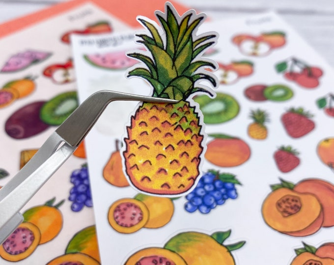 Fruit Stickers, Stationary Stickers, Bujo Planner, Bullet Journal Stickers, Scrapbooking Stickers