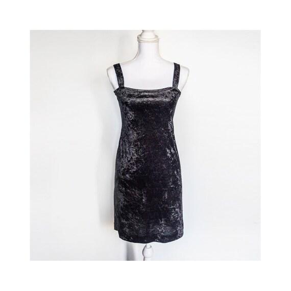 1c74fb57b75a4f Little Black Dress Sleeveless Black Velvet Cocktail Dress