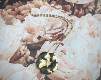 Gold Desert Rose Necklace