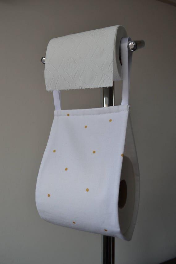 Stoff Dekorative Toilettenpapier Halter Aufbewahrung Weiß Mit Tupfen In 1 Oder 2 Rollen Deko Im Bad Lagerung