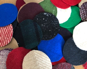 "UPICK Colors 27 Wool Felt 3/"" Circle Die Cuts Penny rug Bow Making"
