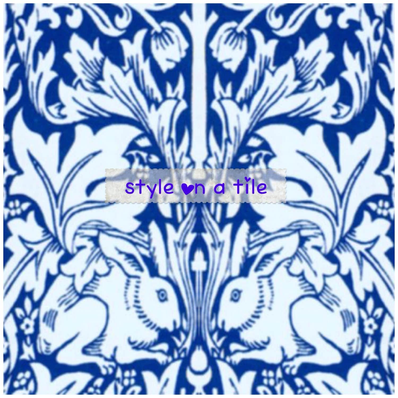 Lovely William Morris Blue Brer Brother Rabbit B facing | Etsy