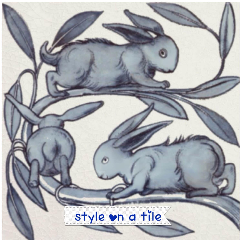 Lovely William De Morgan Baby Rabbits Hares 6/152mm | Etsy