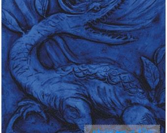 """Lovely William De Morgan Blue Dragon 6""""/152mm ceramic tile trivet kitchen bathroom walls splash backs fireplace tile plant stands"""