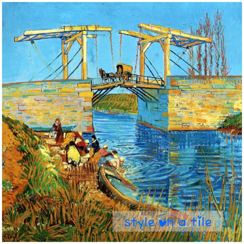Lovely Vincent Van Gogh Langlois Bridge at Arle 6/152mm ceramic tile ...