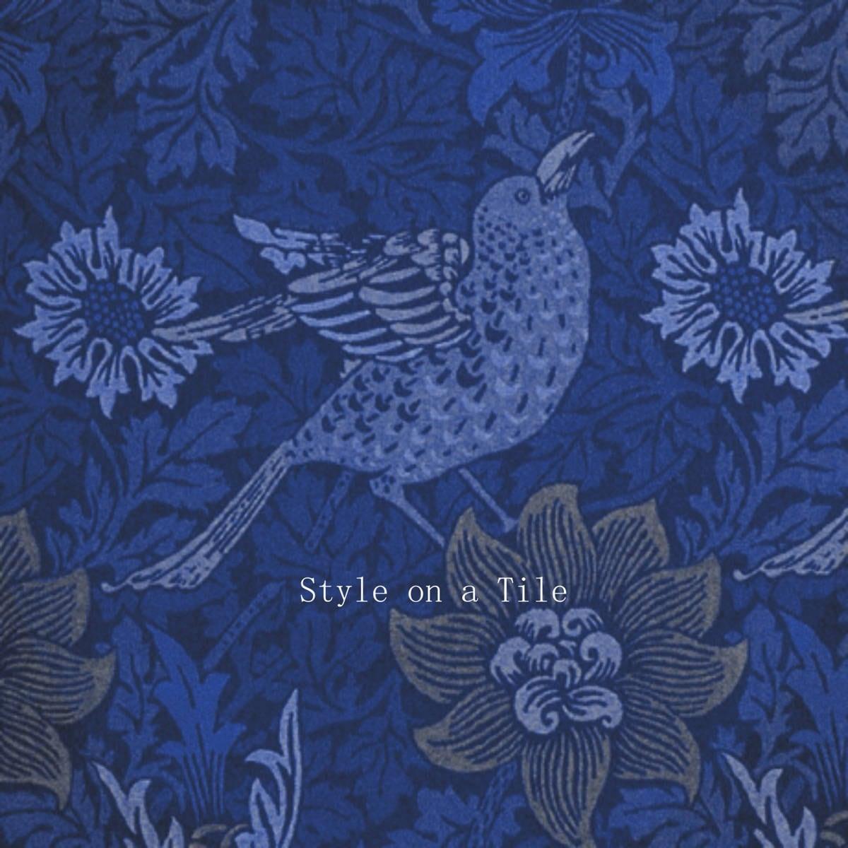 Lovely William Morris Blue Song Bird Anemone 4.25/108mm ceramic tile ...