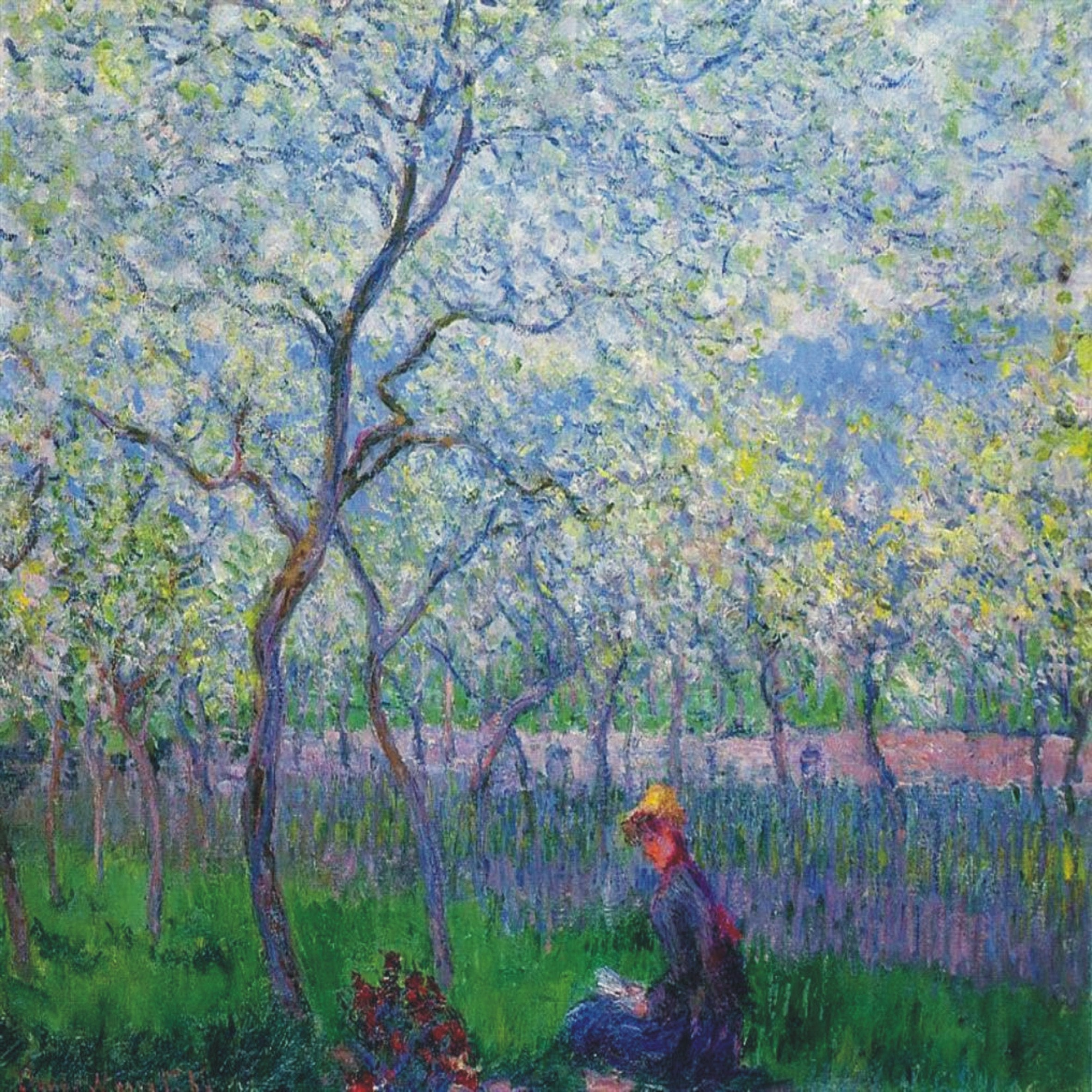Lovely Impressionist Claude Monet Orchard in Spring large 20cm or 8 ...