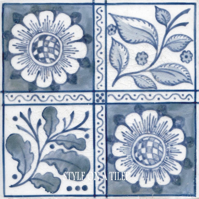 Lovely William Morris Blue Longden Flower design 6/152mm ...