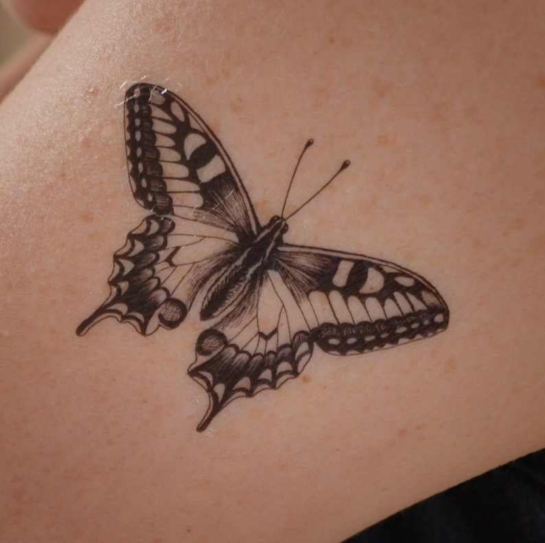 b40bd3ae7 Swallowtail Butterfly temporary tattoo. Temporary tattoo with | Etsy
