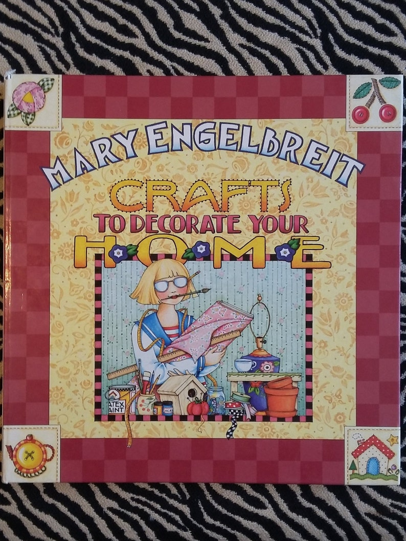 Mary Engelbreitt Crafts To Decorate Your Home Hard Cover Etsy