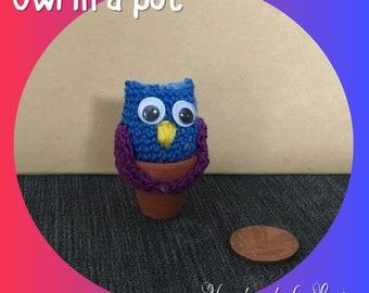 Owl in a pot