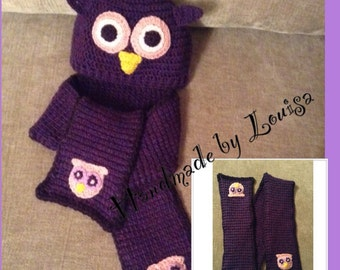 Crochet character hats, scarves and gloves