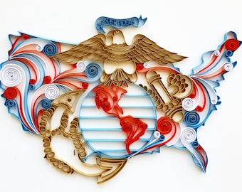 US Marine Corp Quilling