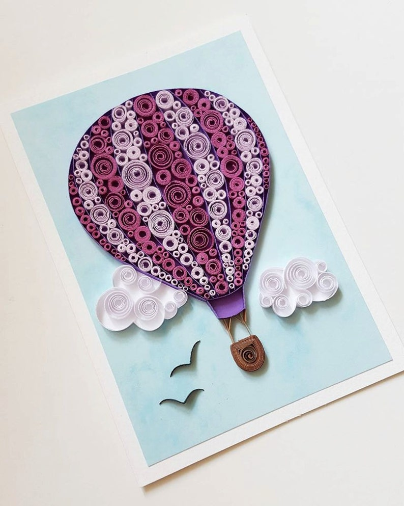 Hot Air Balloon Card Birthday Anniversary