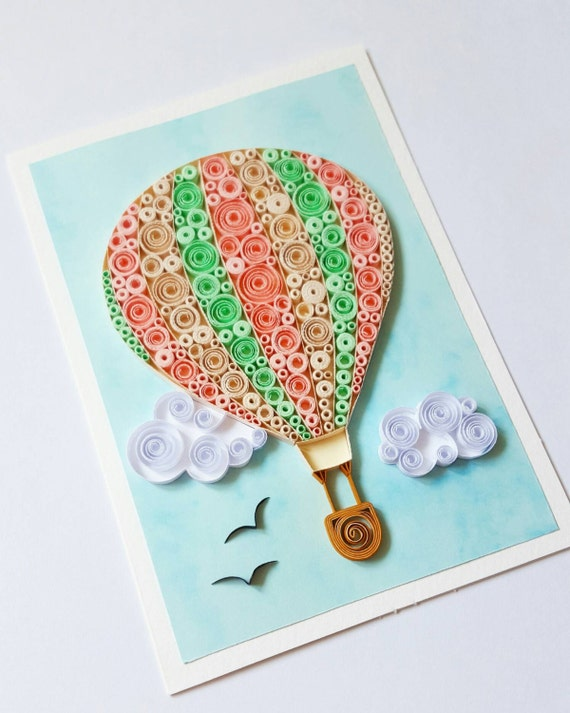 Hot Air Balloon Card Birthday Anniversary Happy
