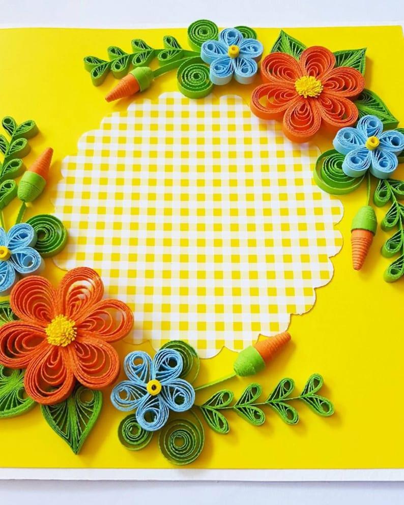 Wife Girlfriend Floral Birthday Card Birthday Card Mom Birthday Card Birthday Card for Mum Her Handmade Birthday Card