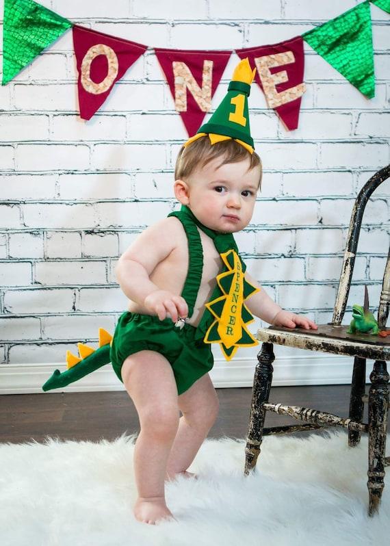 Strange Dinosaur First Birthday Cake Smash Outfit For Baby Boy Etsy Personalised Birthday Cards Xaembasilily Jamesorg