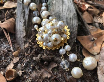 Costume Pearl & Beaded Necklace