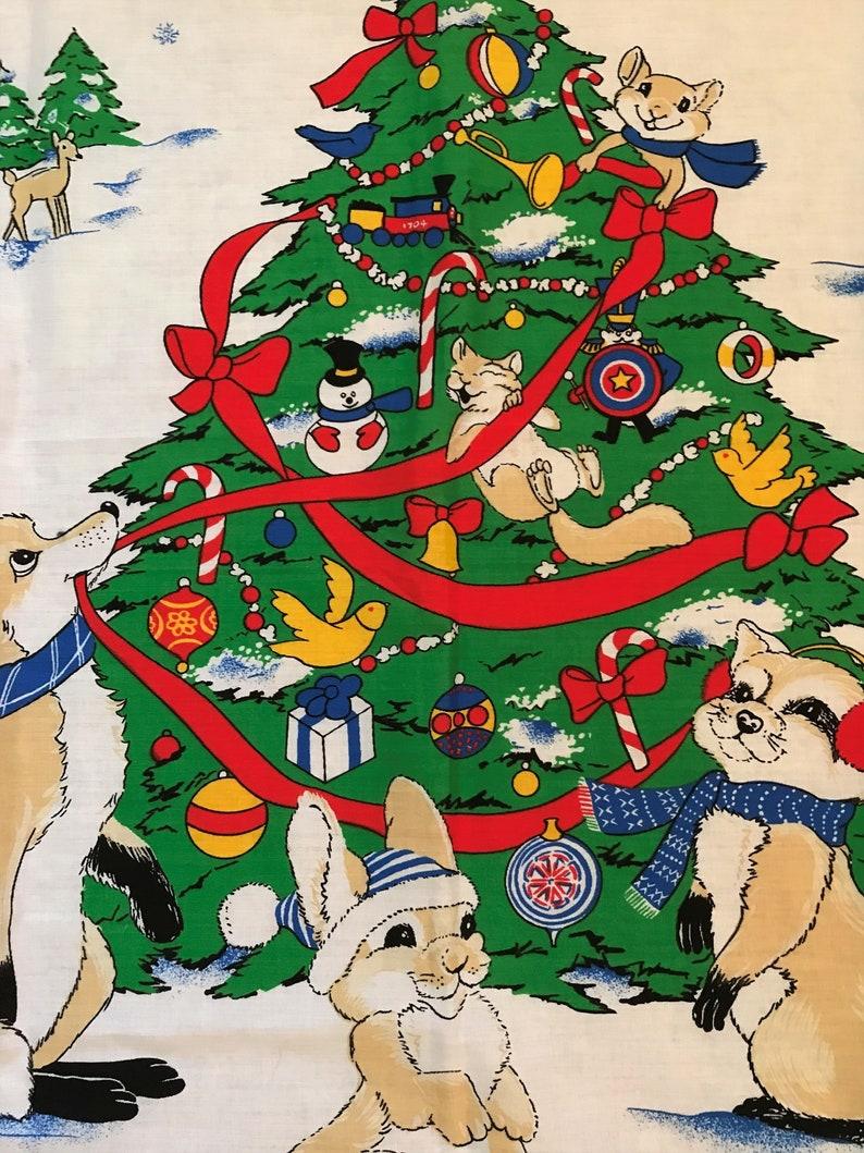 Vintage Christmas Fabric Panel