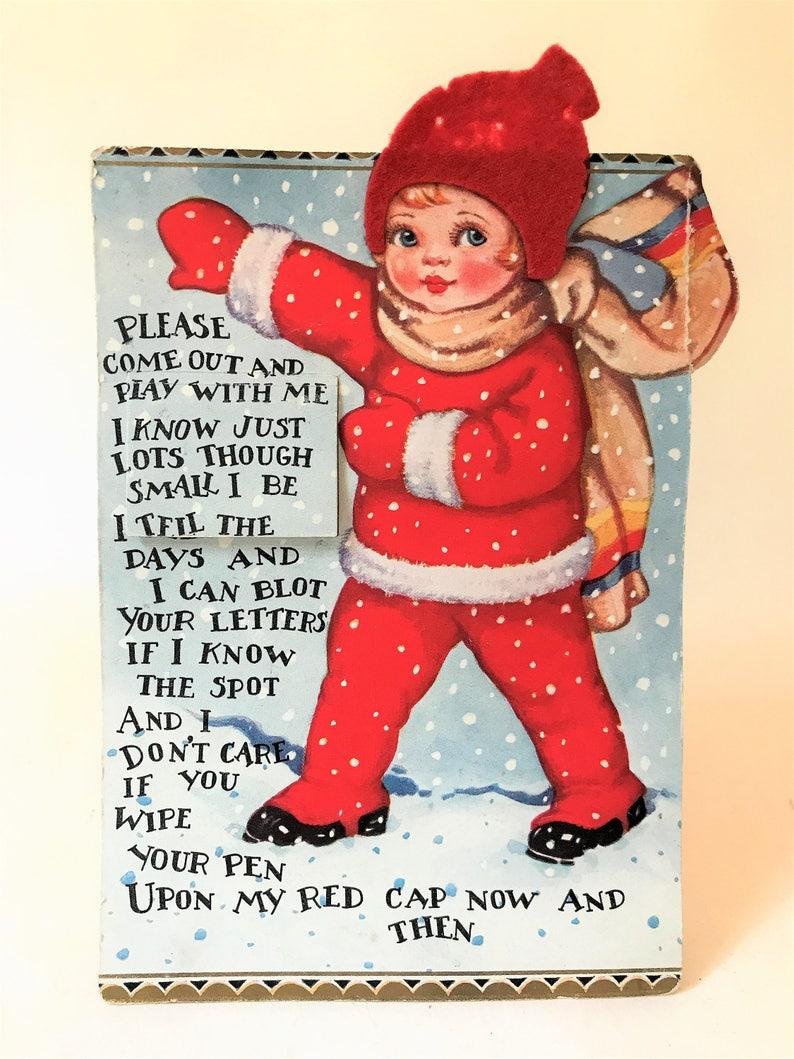 Calendario 1929.Cartolina Di Natale Calendario 1929