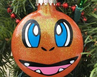Charmander Ornament, Pokemon Ornament, Pokemon Gift, Charmander Pokemon, Personalized Ornament, Boys Ornament
