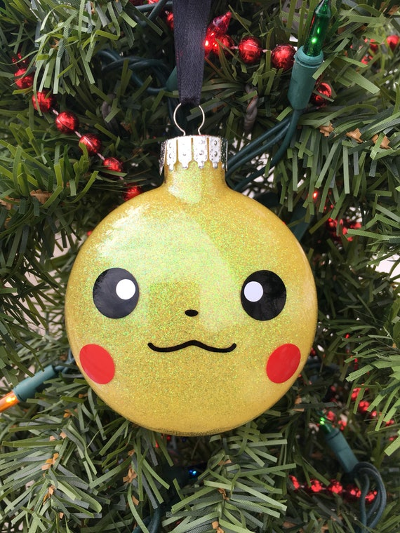 Pikachu Christmas Ornament.Pikachu Ornament Pokemon Ornament Pokemon Gift Pikachu Pokemon Personalized Ornament Boys Ornament