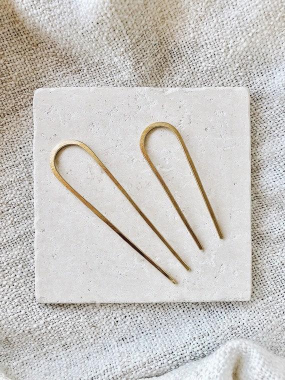 Hammered Hair Pin