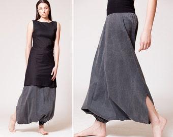Designer clothing, Harem pants women, Drop crotch pants, Baggy pants, Plus size clothing, Boho pants, Skirt pants, Trousers, H1