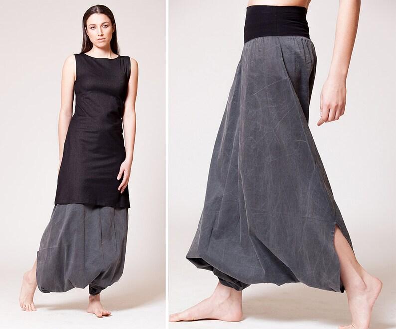 5c81d8b7ee423 Designer clothing Harem pants women Drop crotch pants Baggy | Etsy