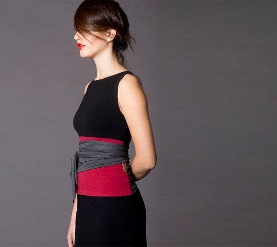b41f2b8dca Dual color Obi belt, Wrap belt, Wide belt, Wrap top, Waist belt, Corset,  Waist cincher, Cloth belt, Japanese clothing, gift for her