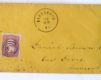 Envelope Postal  #15 Office PLEASE HAND CANCEL Rubber Stamp Mounted Mail