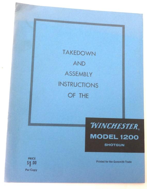 Winchester assembly manual model 1200 shotgun vintage book | etsy.