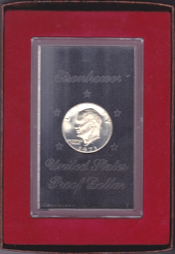 1971-S Proof 40/% Silver Eisenhower IKE Dollar Coin with Original US Mint Box