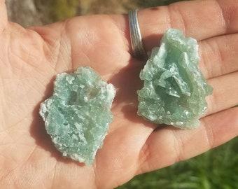 2 Colorado Fluorite with druzy Quartz