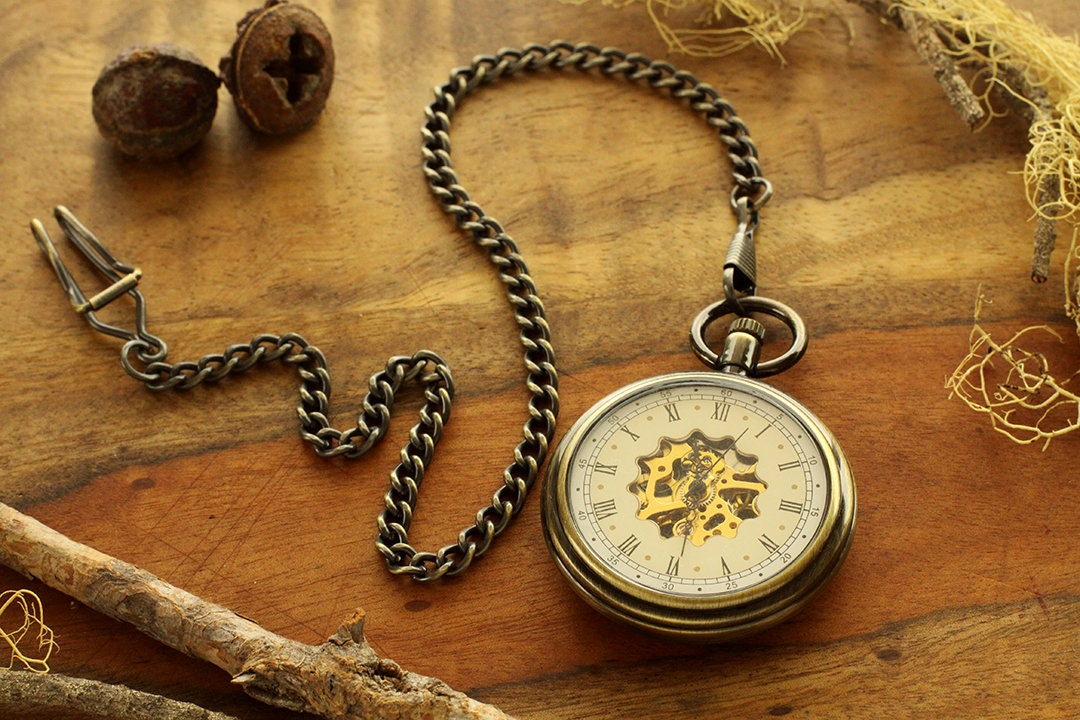 43337ea7a Personalized Engraved Groomsmen Gift Winding Pocket Watch ...