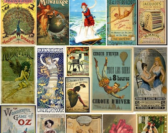 2 Full Sheets Vintage Victorian Advert Poster Collection - Ephemera - Decoupage - Digital Collage Sheet - Printable - Instant Download