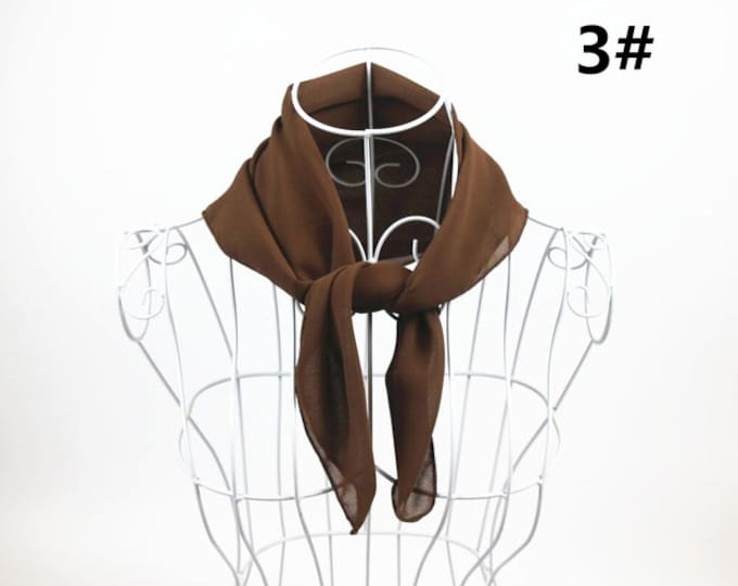 Featured listing image: Chocolate - Square Chiffon Scarf