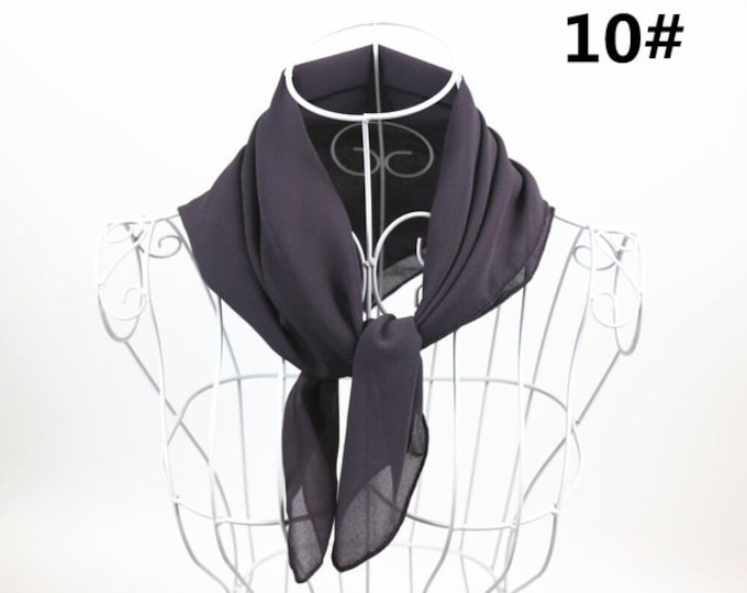 Featured listing image: Stormy - Square Chiffon Scarf